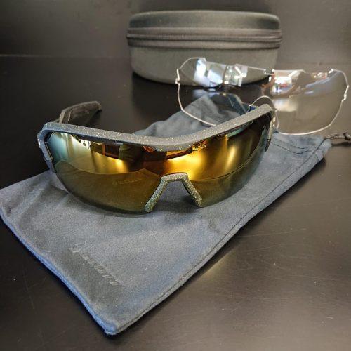 Óculos de Sol Scott SPUR Preto Amarelo-Gold Chrome