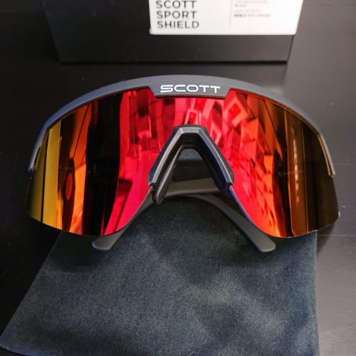 Óculos de Sol Scott Sport Shield Preto-Red Chrome