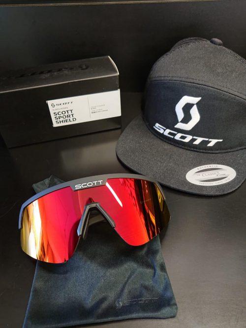 Óculos de Sol Scott Sport Shield Preto-Red Chrome