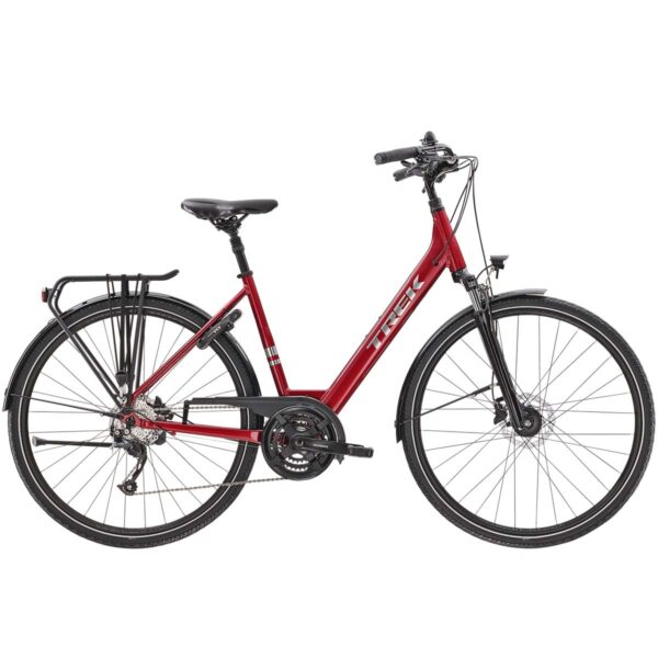Bicicleta Trek Verve 2 Equipped Lowstep Red